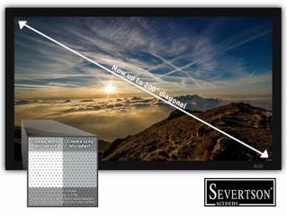 Severtson Screens расширила линейку проекционных полотен Microperf 200-дюймовыми экранами в двух вер