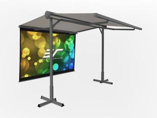 Elite Screens представила уличный проекционный экран с солнцезащитным навесом Yard Master Awning Ser