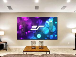 Проекционный экран Aeon CineGrey 5D AT от Elite Screens: скрытая рама, рассеивание окружающего света