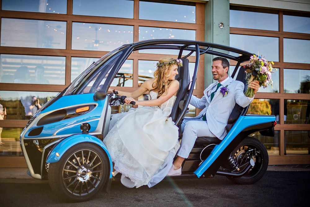 Arcimoto FUV fun utility vehicle marriage