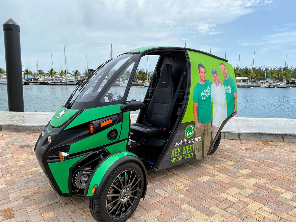 Arcimoto deliverator electric vehicle 3 wheeled
