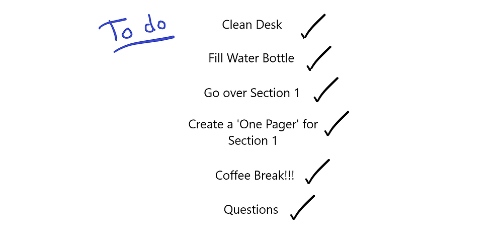 Revision to do list