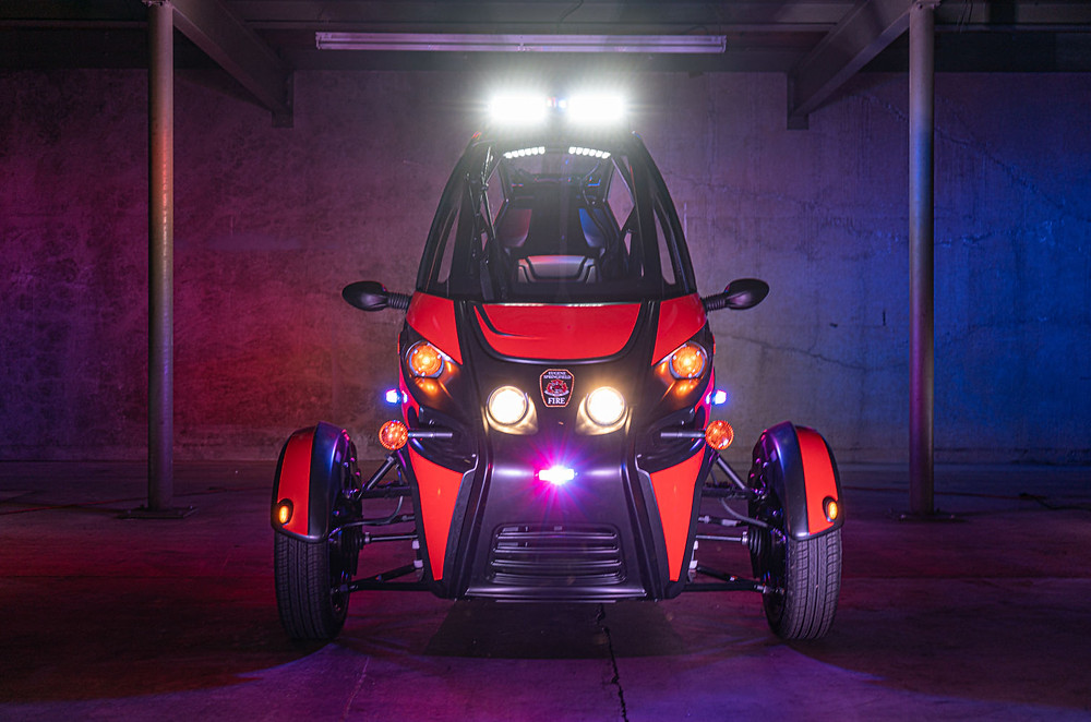 Arcimoto rapid responder 3 wheel electric vehicle