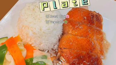Roast Duck Rice Plate  $12/plate
