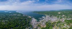Steven Archdeacon--Port Jefferson Harbor Aerial Panoramic