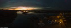 Stony Brook Harbor Aerial Panoramic