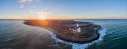 MONTAUK Lighthouse Aerial Pano