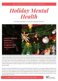 Holiday 2020 - EAP Newsletter - Maintain