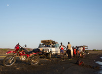 people gathered at the beach in Moite village in Kenya