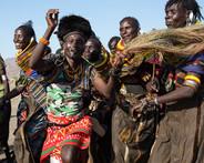 tribal dancing in Lake Turkana Kenya