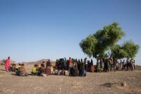 villagers gathered in Lake Turkana Kenya