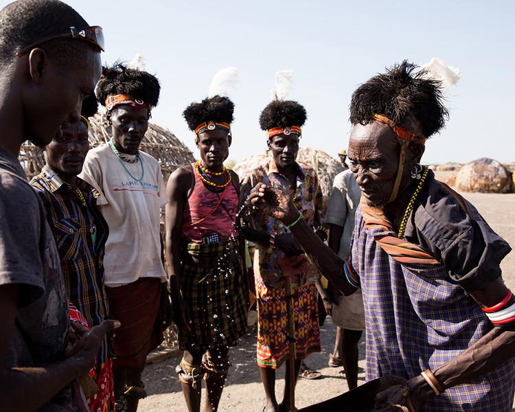 traditional water ceremony Lake Turkana