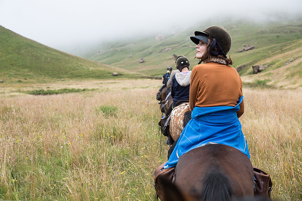 horse riding trek in lesotho