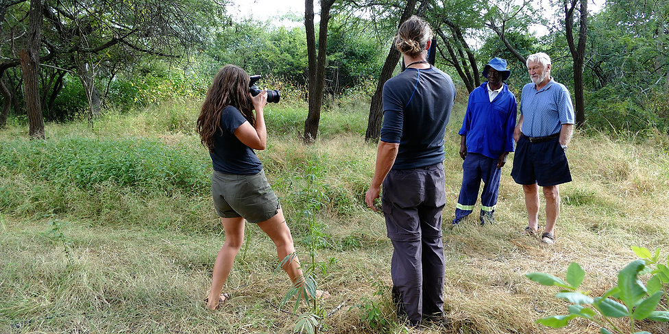 Me photograping a portrait in Zimbabwe, Africa