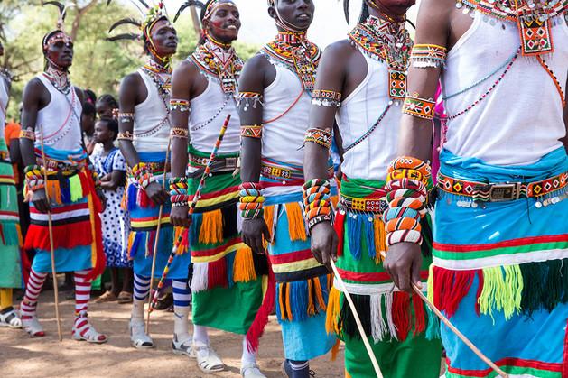 Samburu wedding ceremony outfits and dance in Kenya
