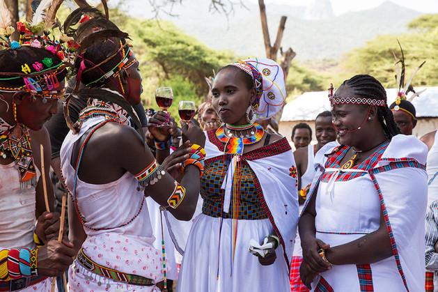 Kenya wedding ceremony bride and groom toast