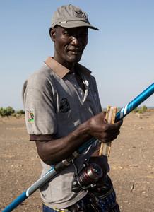 chief of Moite village in Lake Turkana kenya