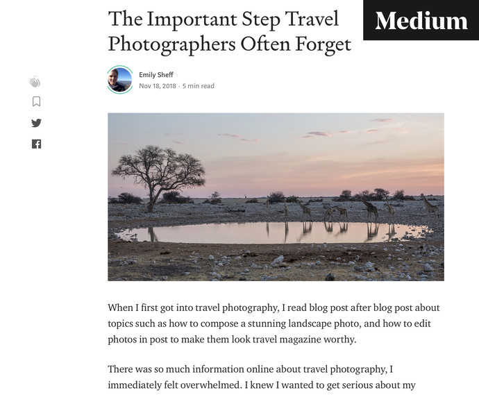 Writing on Medium.com