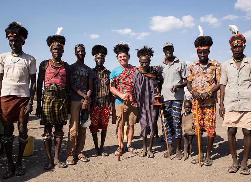 Kenya Turkana elders posing for a group photo