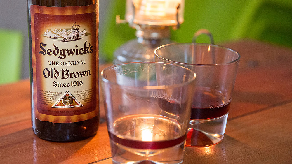 bottle of old brown sedgwick's sherry