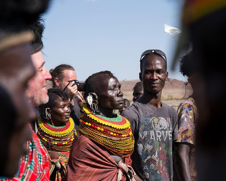 Lake Turkana women traditional dress and beads