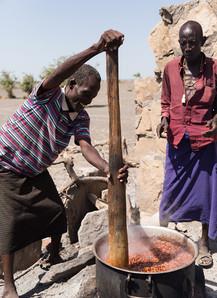 cooking beans in rural Kenya