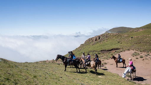 Lesotho horse trek above the clouds