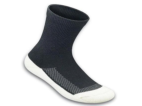 OF-SOCKE1BW OrthoFeet Padded Sole Sock (3 pr.)