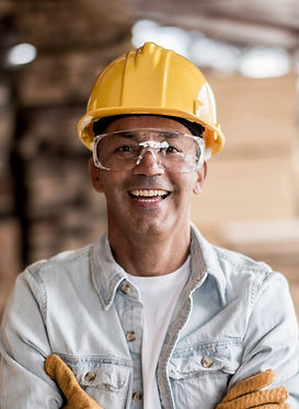Worker with Yellow Helmet for Health and safety Professional Training Centre