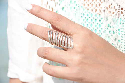 Кольцо серебро 925 ручной работы (р.18.3)