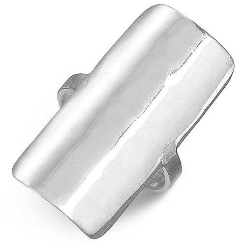 Кольцо серебро 925 ручной работы (р.16.5)