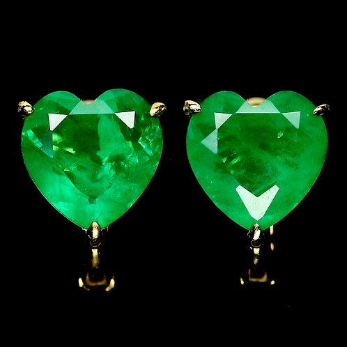 Серьги серебро 925 ручной работы с зеленым кварцем натуральным арт.102305