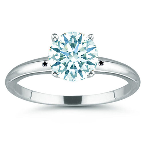 Кольцо серебро 925 с муассанитом голубой лед 2.68 К (р.17.3) арт.102598