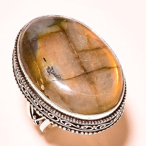 Кольцо серебро 925 с лабрадоритом нат. арт.100594-51