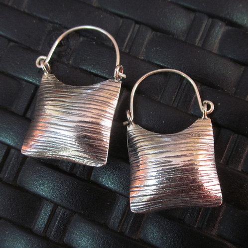Серьги серебро 925 ручной работы тайского племени Карен Хилл