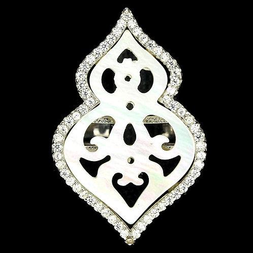 Кольцо серебро 925 с перламутром натуральным арт.00587-39