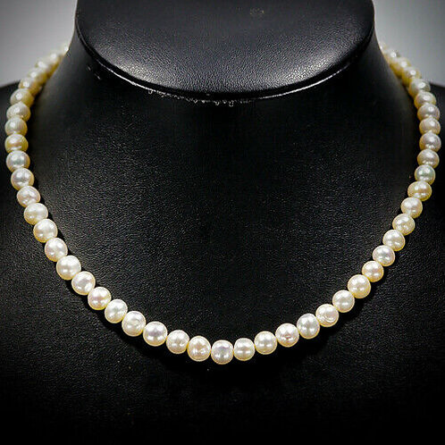 Ожерелье ручной работы с белым жемчугом натуральным арт.103184