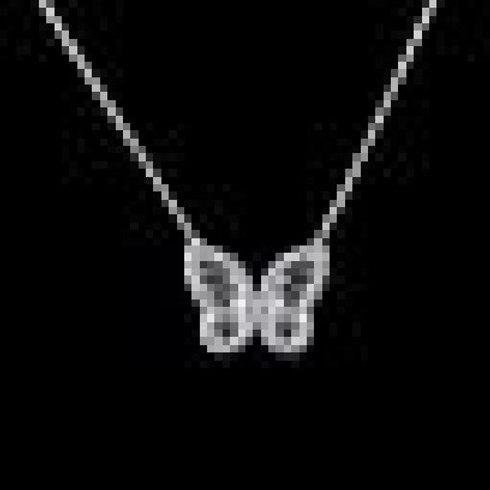 Подвеска с цепочкой серебро 925 бабочка
