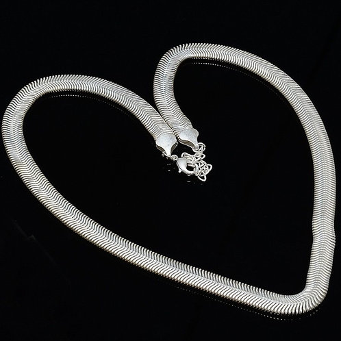 Цепь серебро 925 змейка с алмазной обработкой