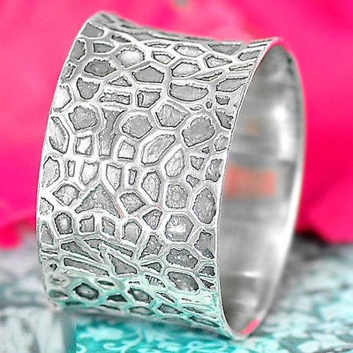 Кольцо дизайнерское серебро 925 ручной работы (р.16.1)