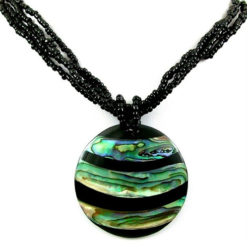 Ожерелье ручной работы с раковиной Абалон натуральной арт.102530