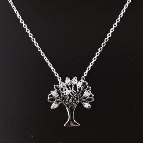 Подвеска с цепочкой серебро 925 с деревом