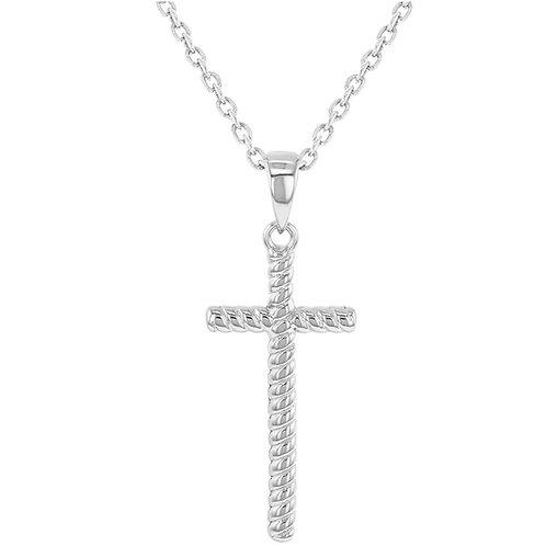 Цепочка с крестиком серебро 925 детская (длина 45 см)