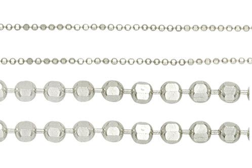 Цепочка шариковая с алмазной гранью серебро 925