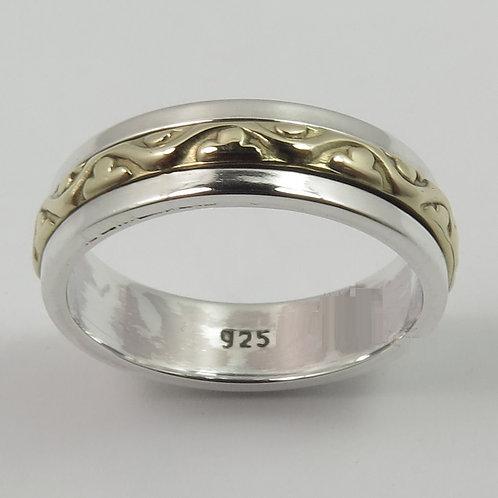 Кольцо дизайнерское серебро 925 ручной работы (р.14.8, 15.7, 16.3)