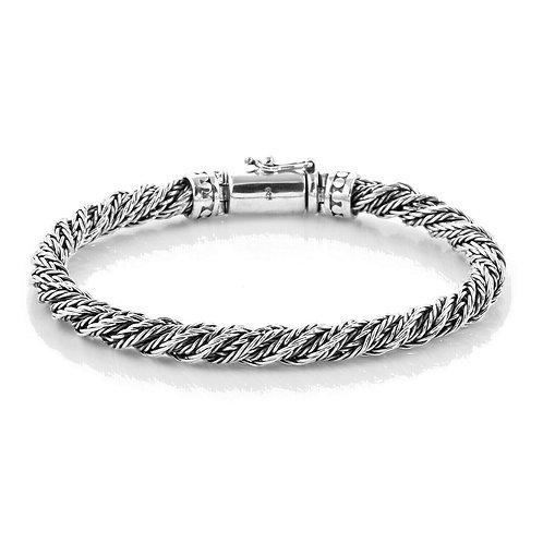Браслет Бали витой унисекс серебро 925 ручной работы 18, 20 см арт.102571