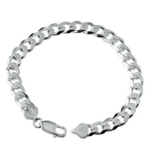 Браслет мужской серебро 925 (длина 20,5 см)