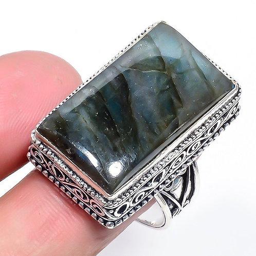 Кольцо серебро 925  c лабрадоритом нат. арт.100988-51