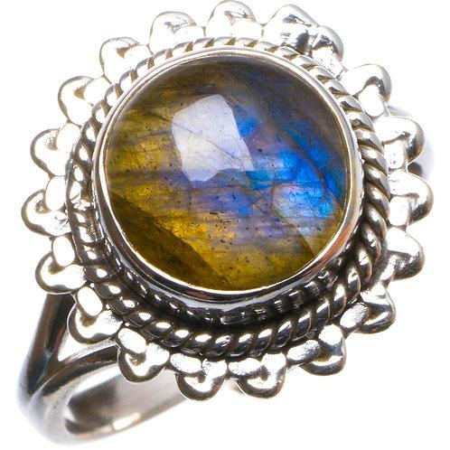 Кольцо серебро 925 с огненно-синим лабрадоритом нат. арт.200060-51