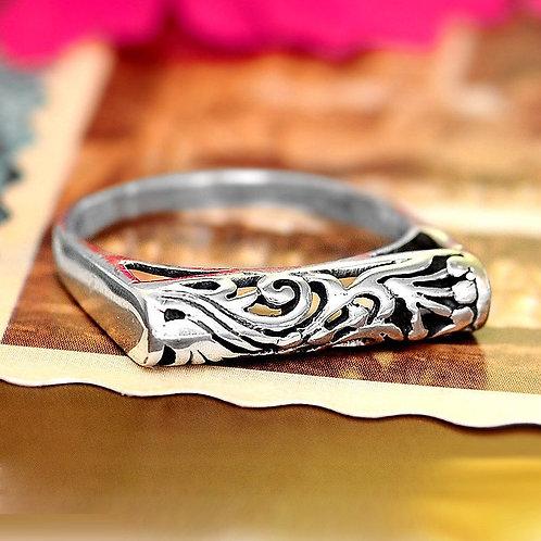 Кольцо дизайнерское серебро 925 ручной работы (р.16.5)